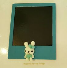 MAGNETIC INSTANT PHOTO FRAME MAGNET w LOVE RABBIT FEATURE 8.7cm x 11cm - M270