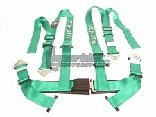 "Takata Drift II Snap-On Seat Belt Safety Harness Green 2"" Shoulder/Lap 4-Point"