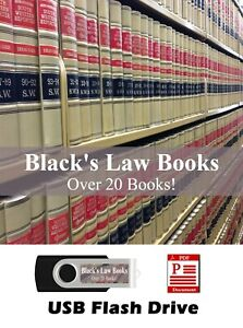 HUGE Black's Law Books - 19 books + Black's Law Dictionary 1st & 2nd Ed on USB