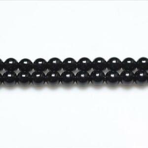 Black Onyx Beads Plain Round 2mm Strand Of 140+