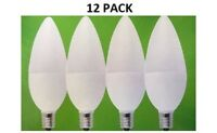 12 Pack LED Bulbs E12 Candelabra 3W Candle Bulb Soft White 270 Lumens Optolight
