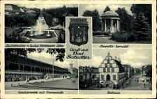Bad Salzuflen più immagine biglietto 1950 Municipio leuchtfontäne Leopold vortice tra l'altro