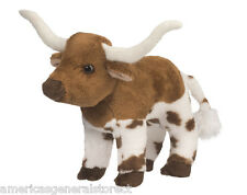 "ZEB the LONGHORN STEER by Douglas Cuddle 7"" stuffed plush animal toy COW"