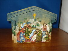 Nativity Holy Family diorama wooden 3 piece 5.5 inches