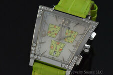 Corum Trapeze Diamond Chronograph Mother of Pearl Dial Watch 196.405.47