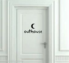 Outhouse with moon country Bathroom Bath door vinyl decal sticker
