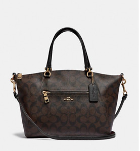 NWT  COACH Prairie Satchel In Signature Canvas/ leather 2020 new style