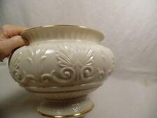 Lenox China Athenian Centerpiece Large Bowl Ivory Porcelain, Made Usa, Gold trim