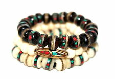 Tibetan prayer beads healing bracelet Adjustable wrist mala yoga bracelet E4