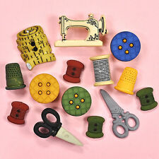 BUTTONS GALORE Sewing 4099 - Embellishments Bobbins Scissors Thimble