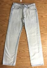 A/X Armani Men's Light indigo Blue Wash Out Cotton Jeans Size 30X31 straight leg