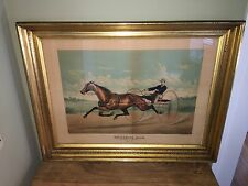 Original Currier Ives Type Print LF Folio Horse Trotter Goldsmith Maid Haskell