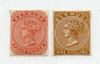 Bermuda - SG# 28a & 29  MH (rem) / wmk crown CA      /       Lot 0221542