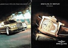 Publicité Advertising  0817 2006  montre Breitling for Bentley (2p) the flying B