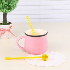Long Handle Plastic Honey Dipper Stirring Stick Mixing Spoon Kitchen Stirrer QF