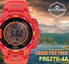 Casio Digital Dress Mens Pro Trek Orange Watch Prg-270-4a