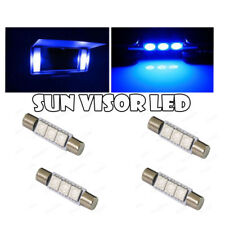 4x For Interior Mirror Vanity Sun Visor LED Xenon 28mm 29mm Festoon BLUE Bulb