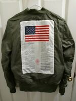 ALPHA INDUSTRIES L2B Flight Jacket Dragonfly Blood Chit Slim Fit Reversible XS