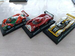 Lot de 3 alpine 1978 Toyota 1999 mazda 24 heures du Mans 1/43 no Minichamps bbr