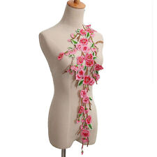 Embroidery Peach blossom Sew On Patch Badge Bag Hat Jeans Dress Applique Craft