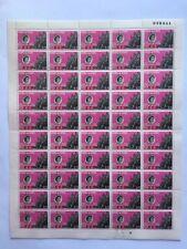 HONG KONG 1962 Stamp Centenary 10c full mint sheet of 50 MNH OG folded once