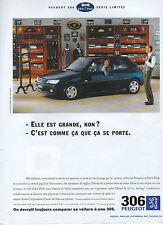 Publicité Advertising 1995 PEUGEOT 306  EDEN PARK SERIE LIMITEE