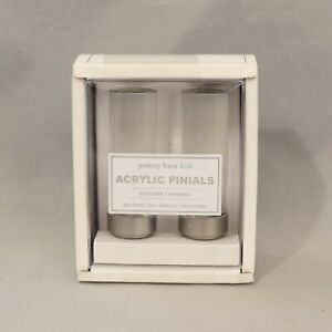 Pottery Barn Kids Set of 2 Clear Acrylic Finials