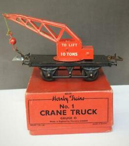 HORNBY TRAINS 1954 O GAUGE BOXED TINPLATE No.1 CRANE TRUCK VERY NEAR MINT