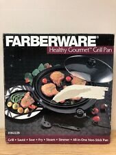 NIB Farberware Hearty Gourmet Grill Pan Indoor Bar-B-Que