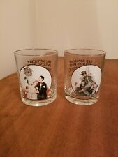 (2) Norman Rockwell Saturday Evening Post Glassware Collection Glasses