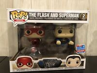 Justice League The Flash And Superman 2018 NYCC Exclusive 2 Pack Funko Pop Vinyl