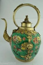 China Collectibles Old Decorated Wonderful Handwork Porcelain Kylin Big Tea Pot
