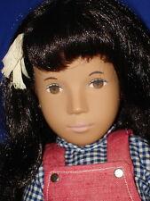"Sasha Brunette ""Red Pinafore"" Girl Doll  w Silver Medallion Frido Trendon1980-86"