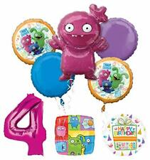 Mayflower Products Ugly Dolls 4th Birthday Party Supplies Balloon Bouquet Decor