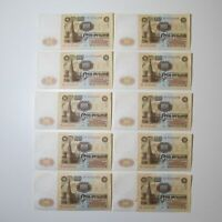 100 roubles 1961 USSR P 236a * 10 UNC banknotes consecutive numbers in a row