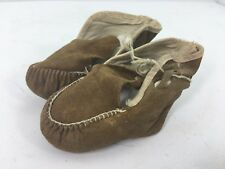 Vintage Baby Suede Leather Moccasin Shoes