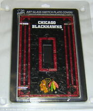 Chicago Blackhawks Art-Glass Single Switch Plate Cover FREE SHIPPING