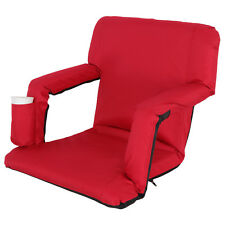 Portable Stadium Seat Chair, Reclining Seat Red Bleachers W/5 Assorted Positions