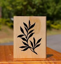 Branch Leaves Floral Wood Mounted Rubber Stamp by The Rubber Cafe # I927