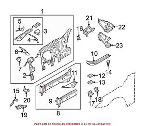 For BMW Genuine Fender Closing Plate Front Left 41217111809