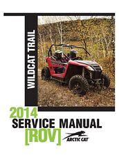 2014 Arctic Cat Wildcat Trail / Wildcat Trail X repair shop service manual on CD