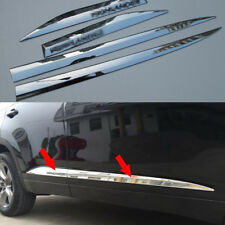 ABS Chrome Body Side Door Molding Trims 4pcs Fit For Toyota Kluger 2014-2018