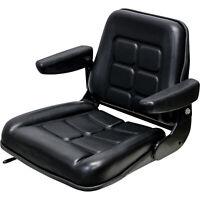 K&M Uni Pro KM 142 Forklift Seat - Black Vinyl, Model# 8546