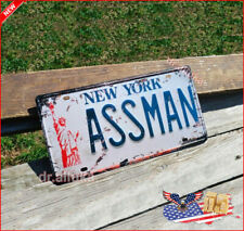 New York Assman Novelty License Plate Retro Tin Sign Cosmo Kramer The Assman