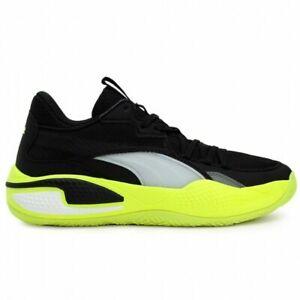 Size 10 Puma Men's Court Rider Basketball Shoes Black/Yellow Alert 195064-03