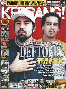 KERRANG! #1464 MAY 2013: DEFTONES Fall Out Boy DILLINGER ESCAPE PLAN Young Guns