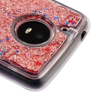 Motorola Moto E4 XT1762 - TPU RUBBER Floating Waterfall ROSE GOLD Liquid Case