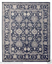 Restoration Hardware Ayara Hand Knotted Blue Rug 5x7 Wool $1995 MSRP
