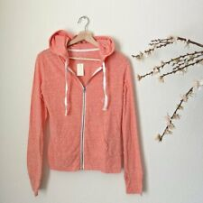 AEROPOSTALE Juniors Hoodie Salmon Pink Zip Up Hooded Sweatshirt Small NEW