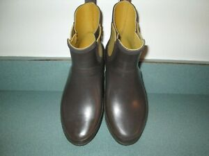 LL BEAN Willie Rain Snow Brown Rubber Boot Size 7 M VGC